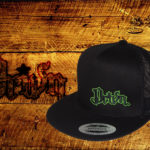 black green logo Snap back hat