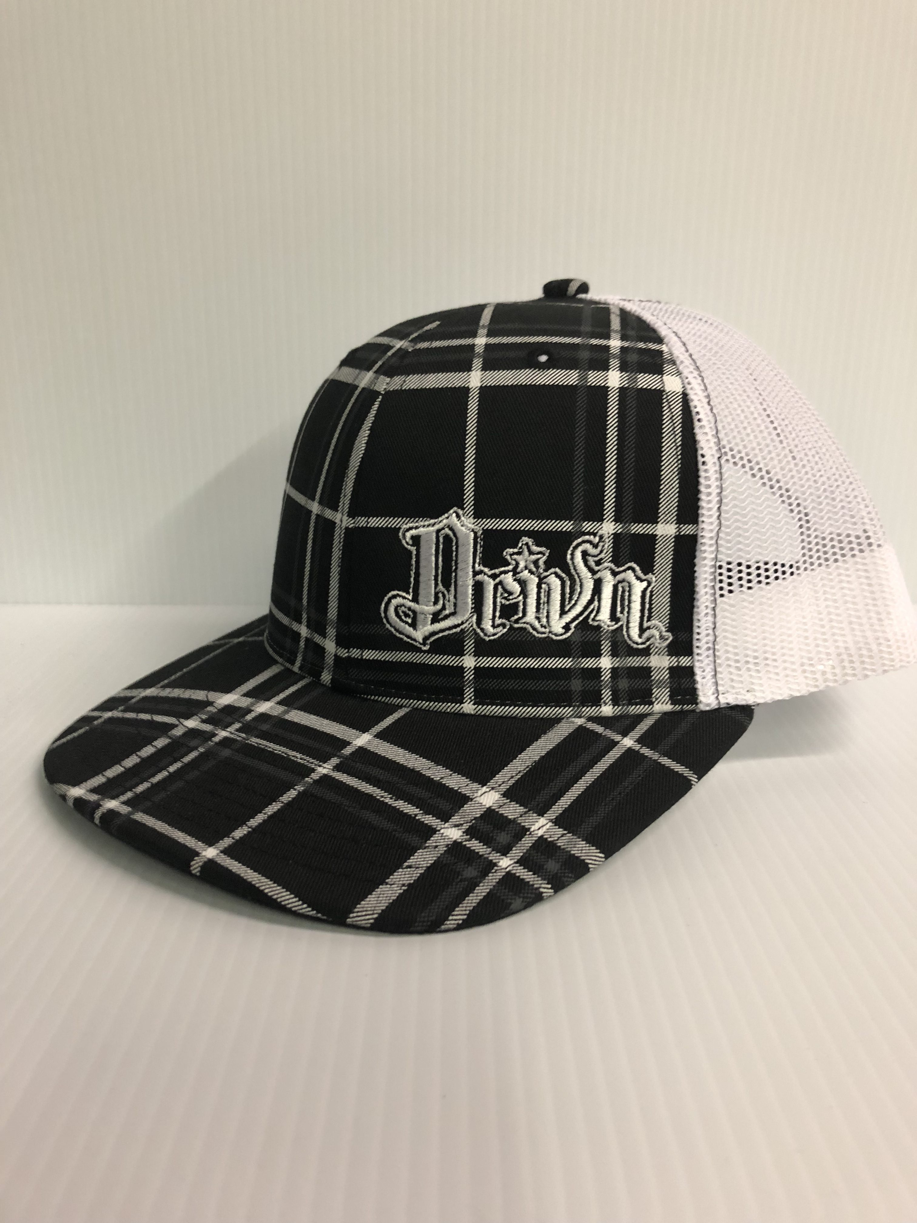 Drivn snap back black and white plaid. $25.00. fuck cancer hat ...